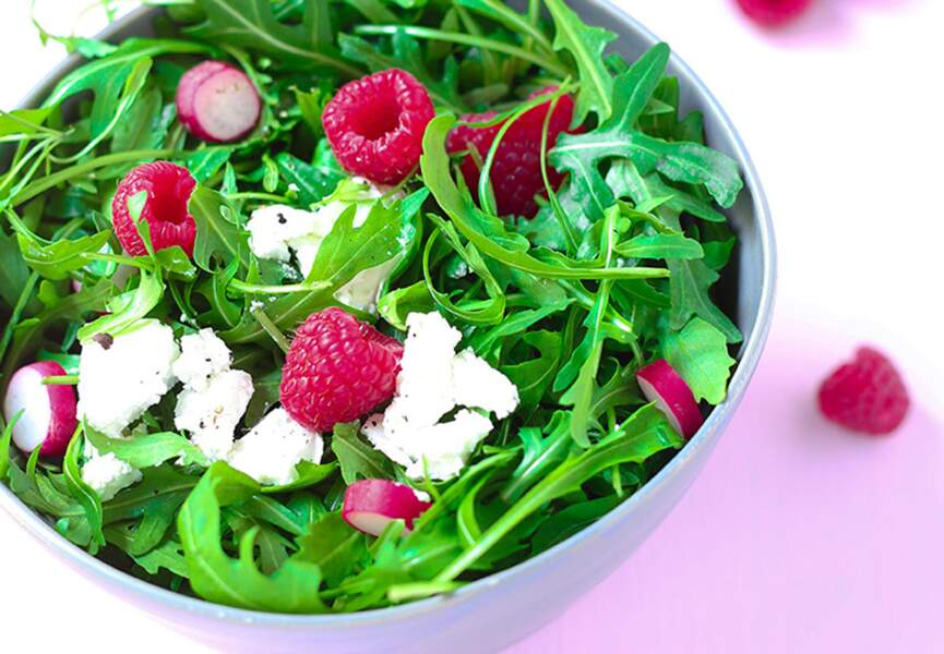 Salade croquante au chèvre