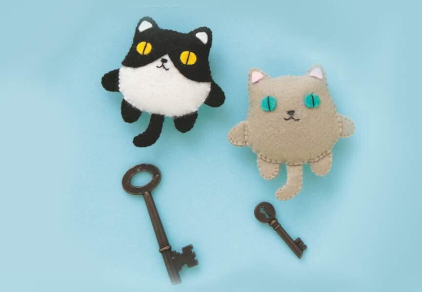 Un chat porte-clés