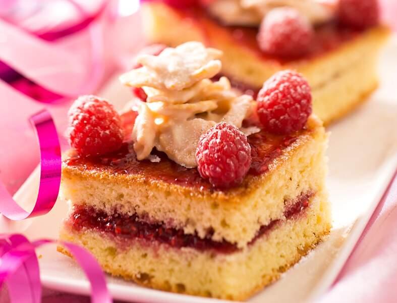 Biscuit au chocolat blanc et framboises
