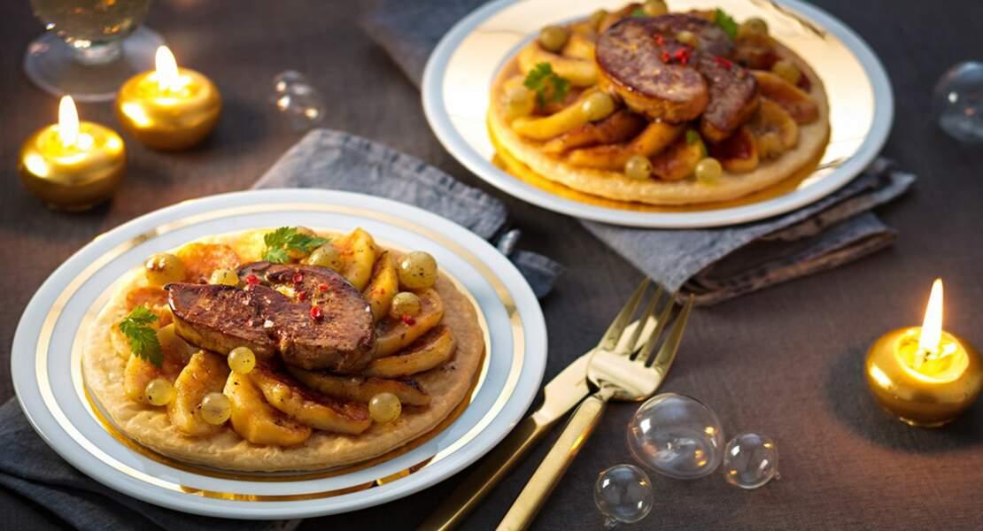 La tarte fine aux pommes et foie gras de Guy Krenzer