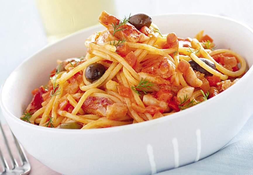 Spaghettis au poisson