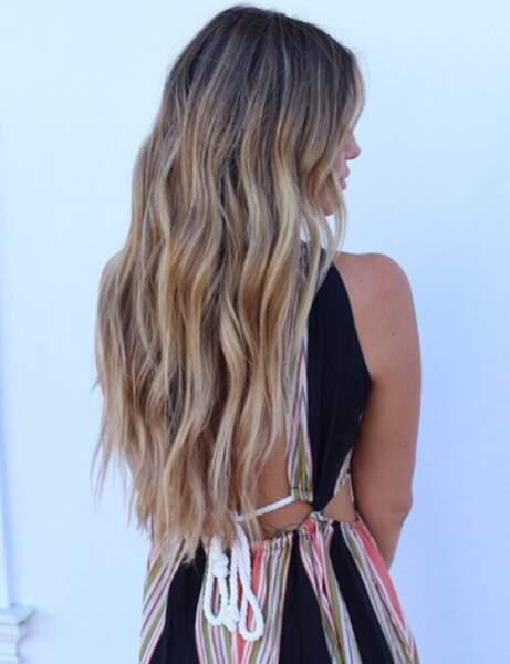 La coloration foilyage sur cheveux châtain clair