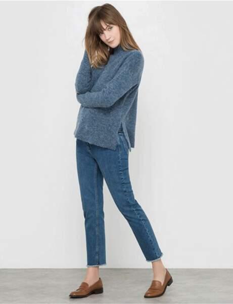 Le jean frangé
