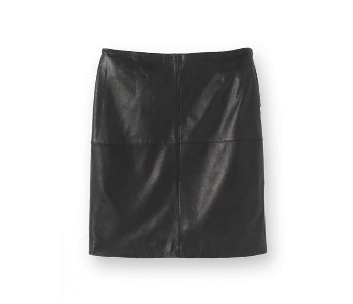 La jupe en cuir