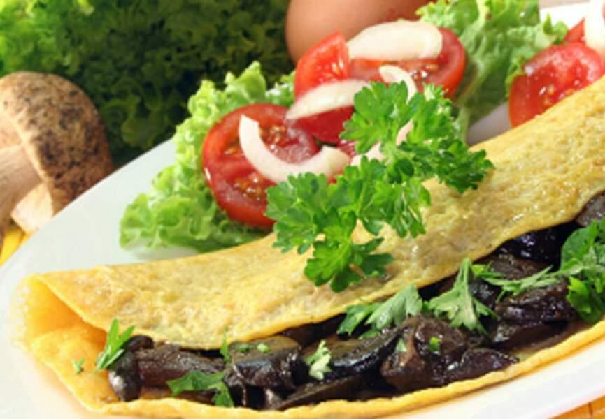 Omelette à l'aubergine