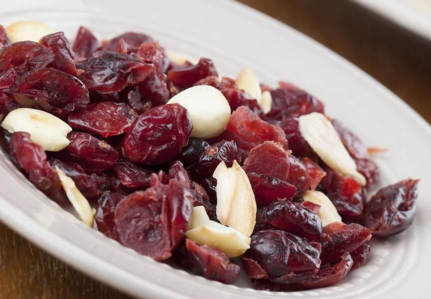 Amandes et cranberry séchée