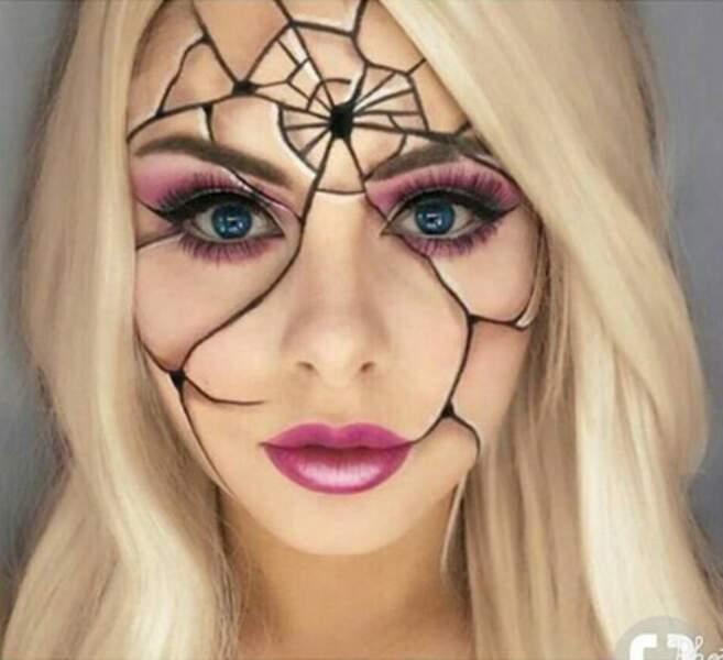 Maquillage d'Halloween araignée