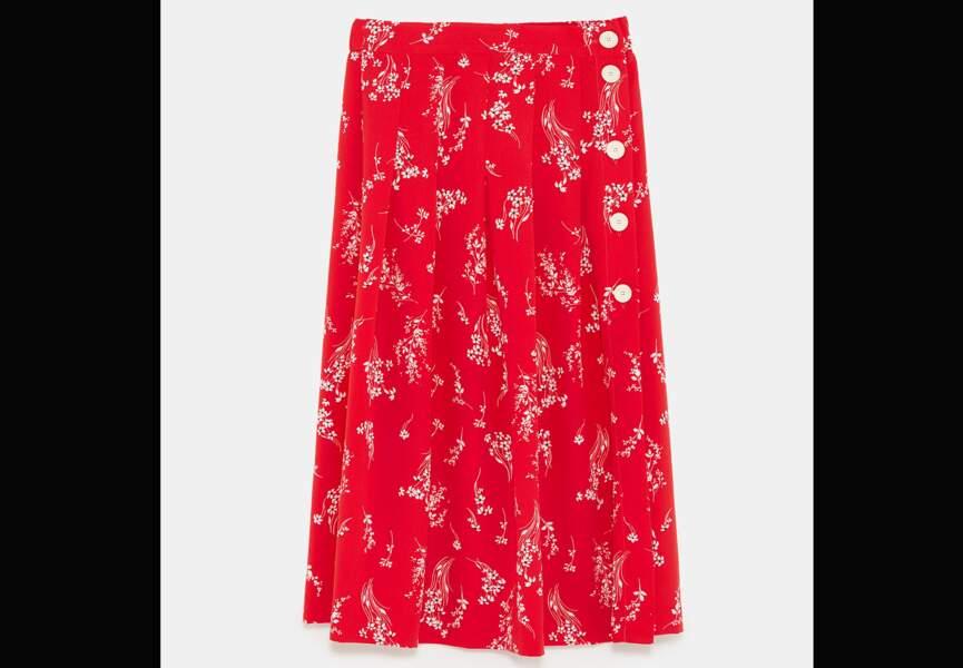 Nouveautés Zara: la jupe à fleurs