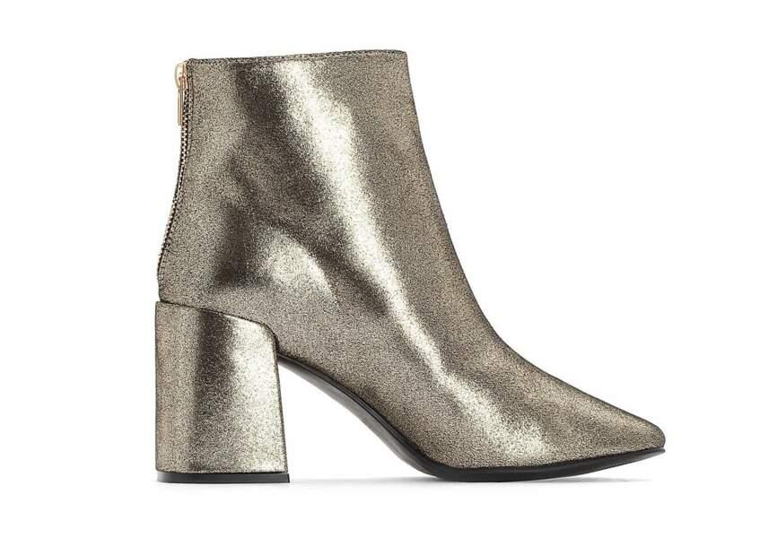 Chaussures de soirée : les boots irisées