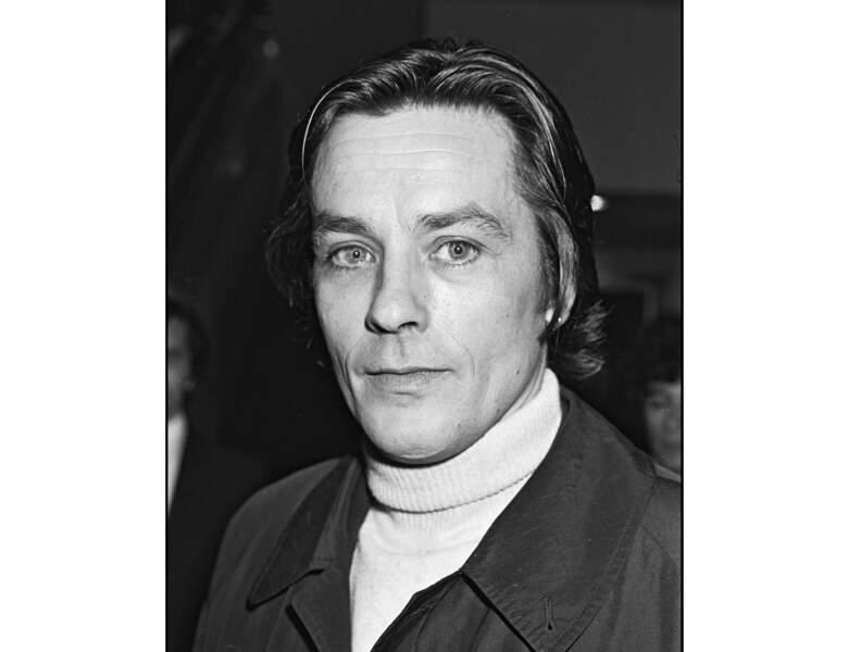 Alain Delon en 1976 à une avant-première