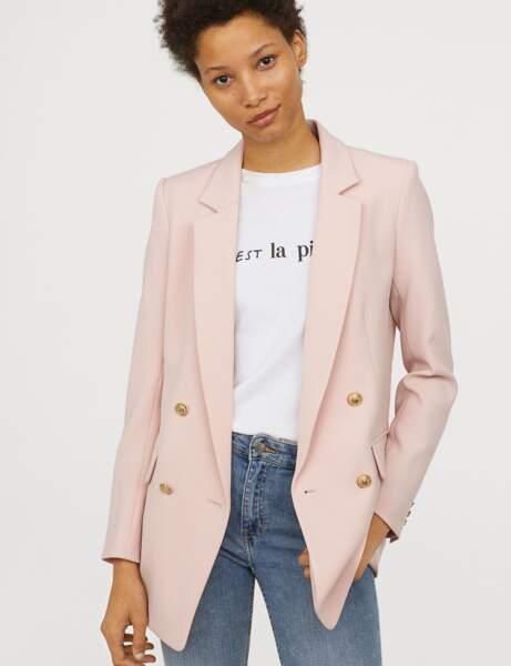 Blazer tendance: rose clair