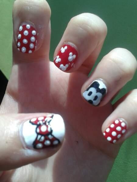 Nail Art petits pois
