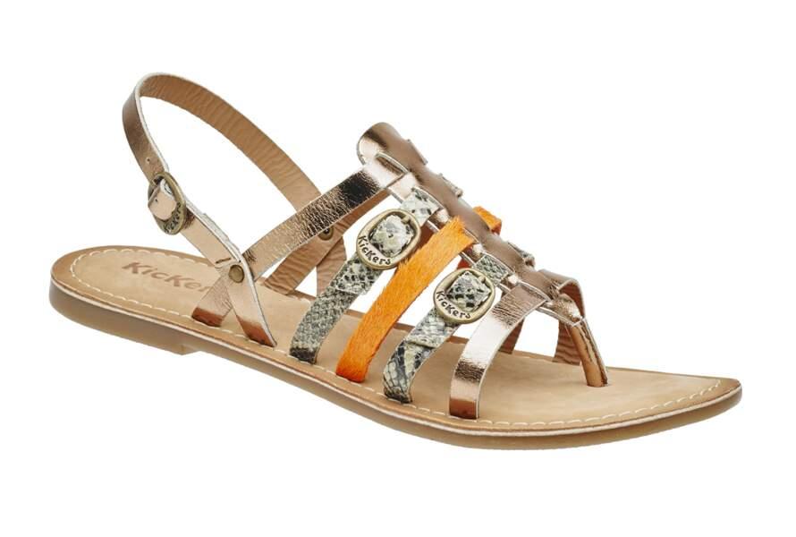 Sandales multimatières