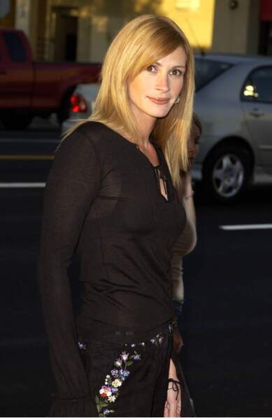 "Julia Roberts à la première du film ""Full frontal"" de Steven Soderbergh en 2002"