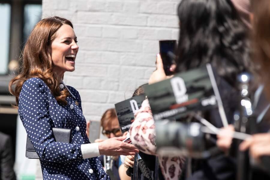 Kate Middleton ne ménage pas ses efforts, comme le 14 mai où elle a assisté à une inauguration au Bletchley Park...