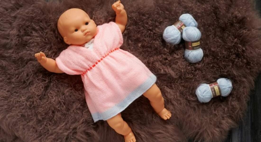 Tricot : une robe de bébé en jersey