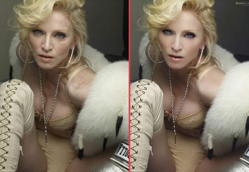 Madonna, à qui on a gommé quelques rides