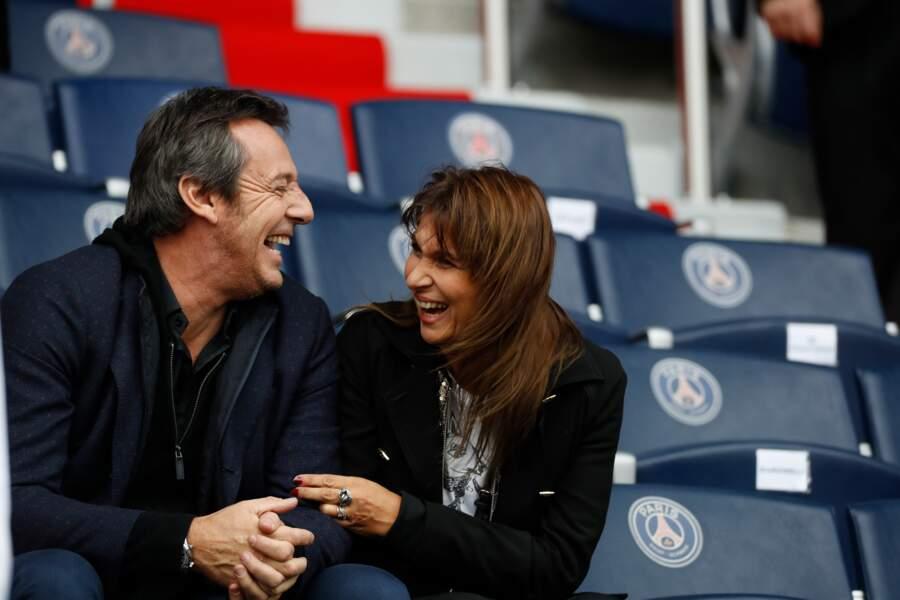 Jean-Luc et Nathalie Reichmann en octobre 2016 pour le match PSG/Bordeaux