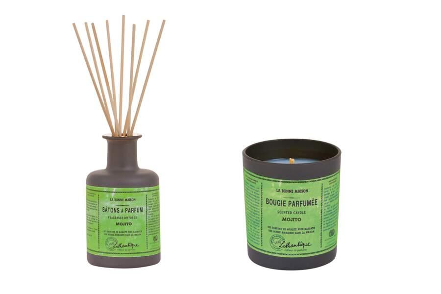 Bougie, parfum d'ambiance Mojito