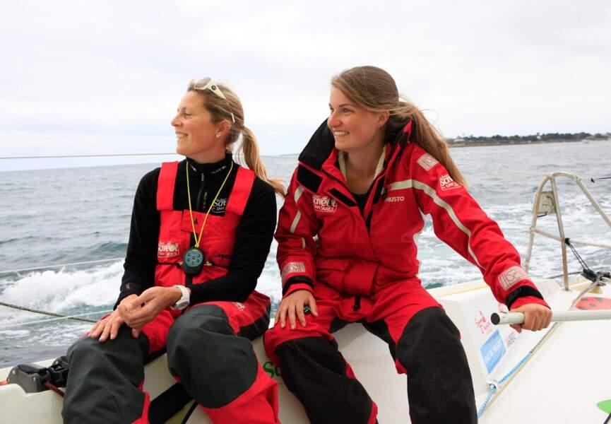 Chloé rêvait de rencontrer la navigatrice Sam Davies, c'est chose faite !