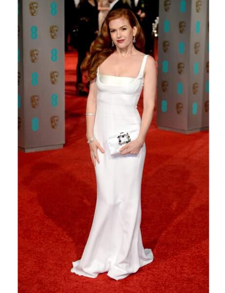 La robe longue d'Isla Fisher