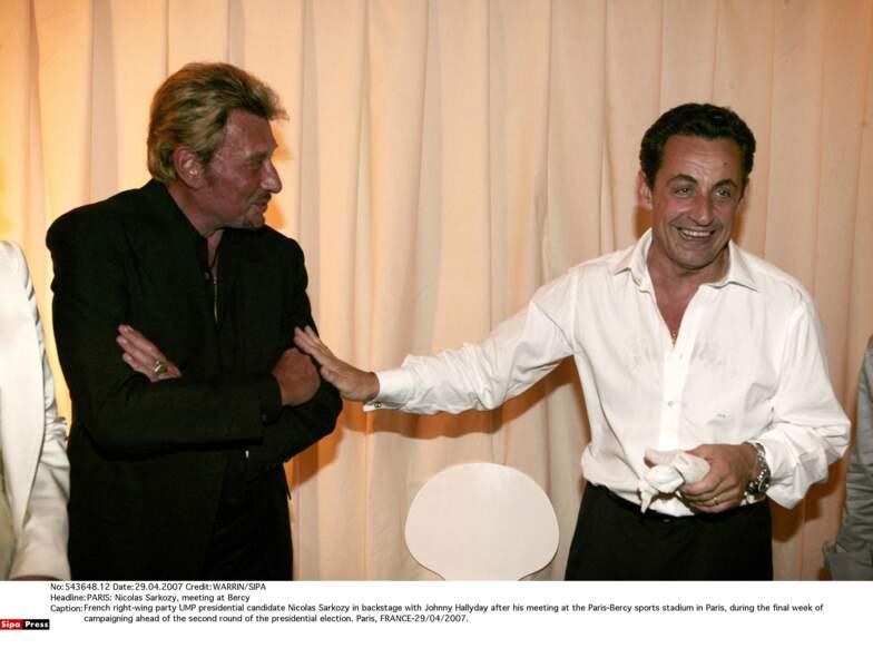 Johnny Hallyday et Nicolas Sarkozy
