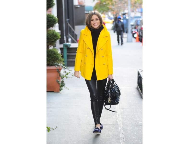 Le jaune citron comme Olivia Palermo
