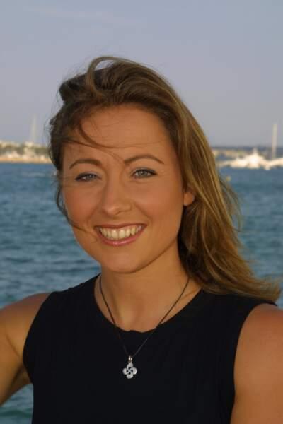 Anne-Sophie Lapix lors d'une séance photo en 2003.