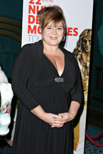 Michèle Bernier à la cérémonie des Molière en avril 2008.