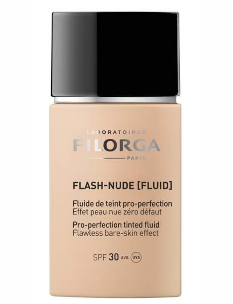 Si je veux un effet peau nue : le fond de teint fluide Filorga