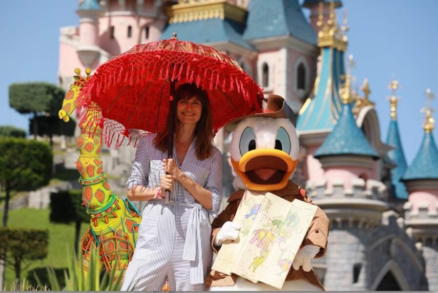 Caroline de Maigret fait honneur à la sortie du nouveau film Le Roi Lion à Disneyland Paris