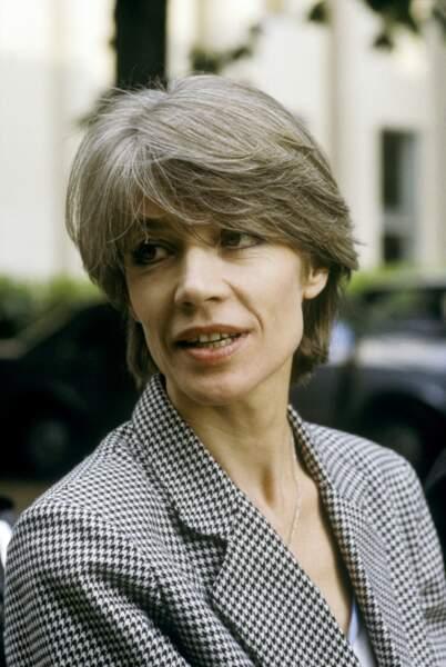 Françoise Hardy arrivant à l'émission Champs-Elysées le 28 mai 1984.