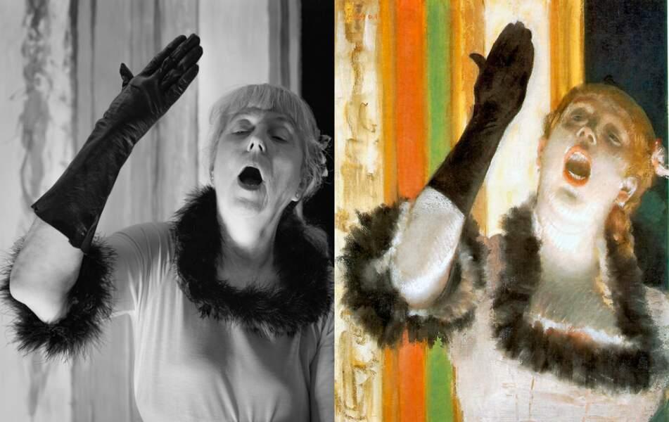 Chanteuse de Café, d'Edgar Degas