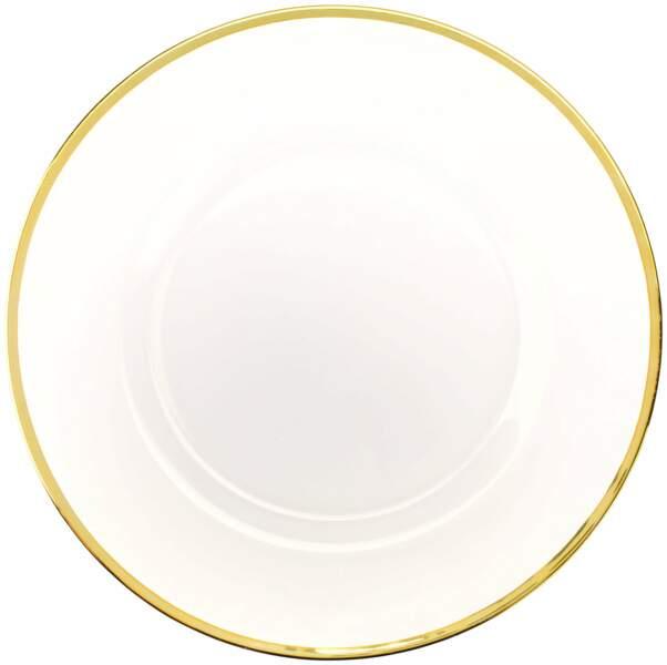 Assiette plate liseré doré