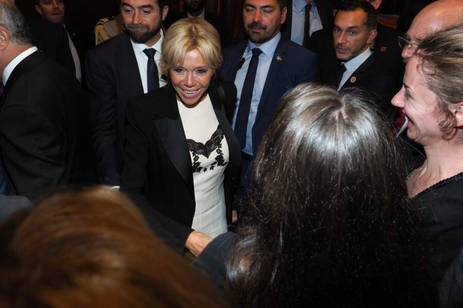 Brigitte Macron à New York le 19 septembre dans une robe Louis Vuitton