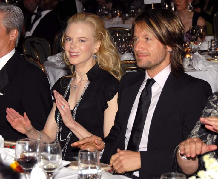 Nicole Kidman et Keith Urban lors d'une soirée à New York en 2006.