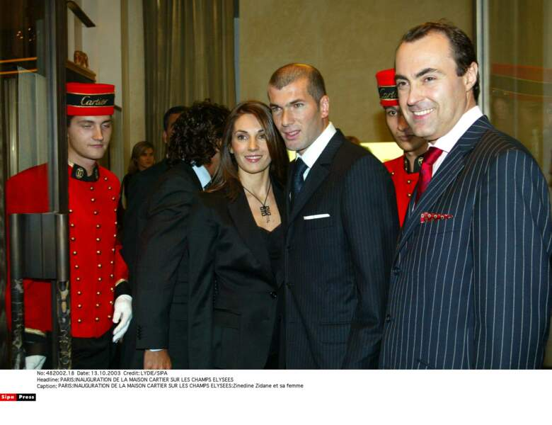 Zinédine Zidane et sa femme Véronique : 2003
