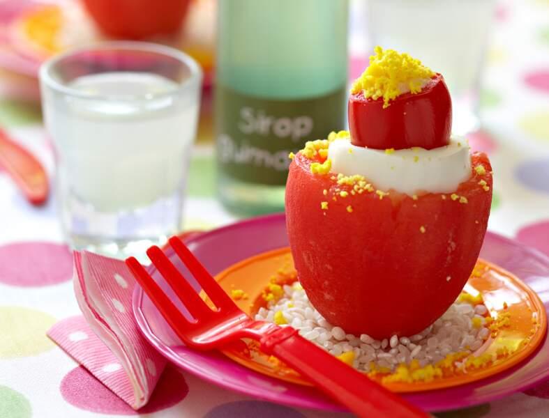 Tomate et œuf au thon