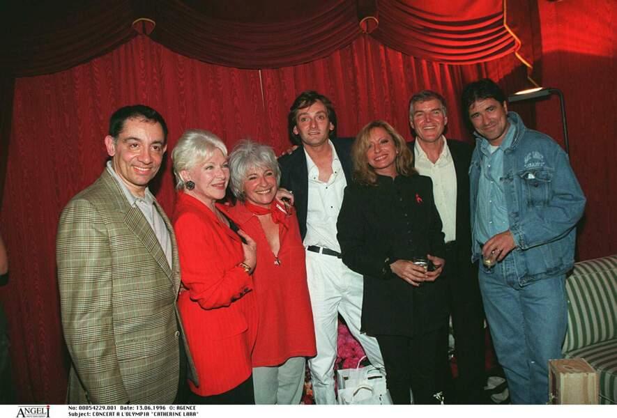 Véronique Sanson, Pierre Palmade et des amis au concert de Catherine Lara à l'Olympia le 13 juin 1996.