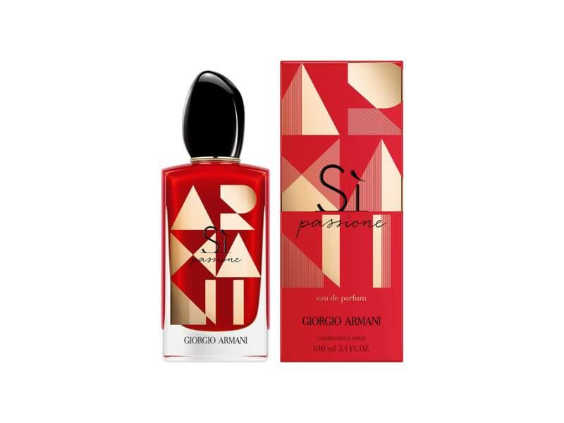 Si Passione - Eau de parfum Edition Limitée, Giorgio Armani, flacon 50 ml, prix indicatif : 64,90 €
