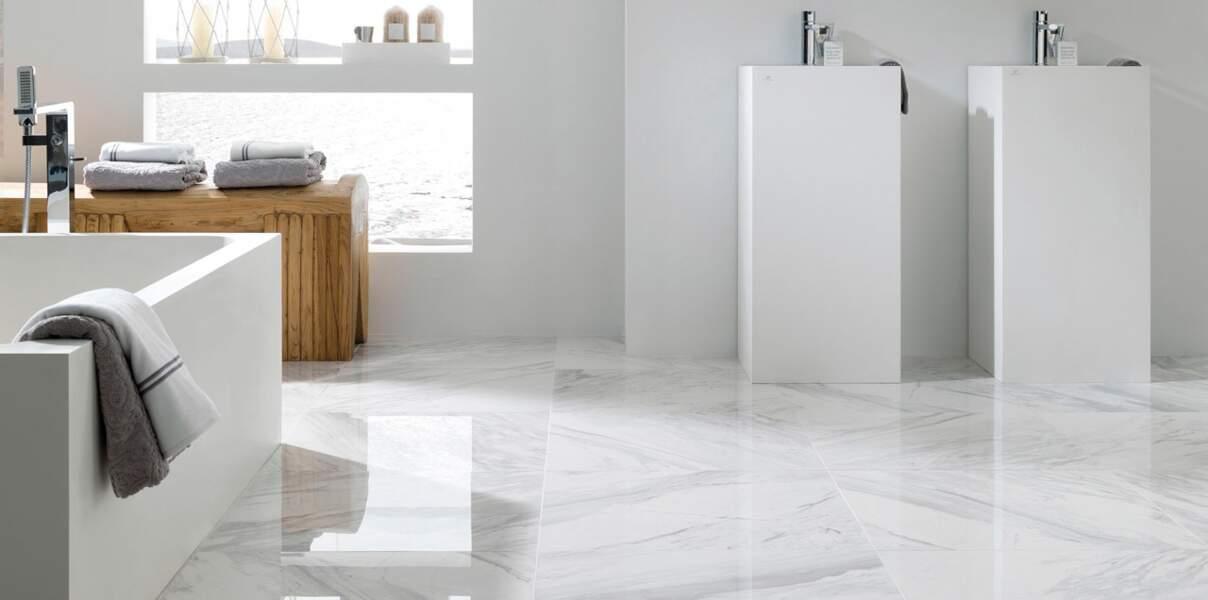 Carrelage effet marbre blanc Porcelanosa
