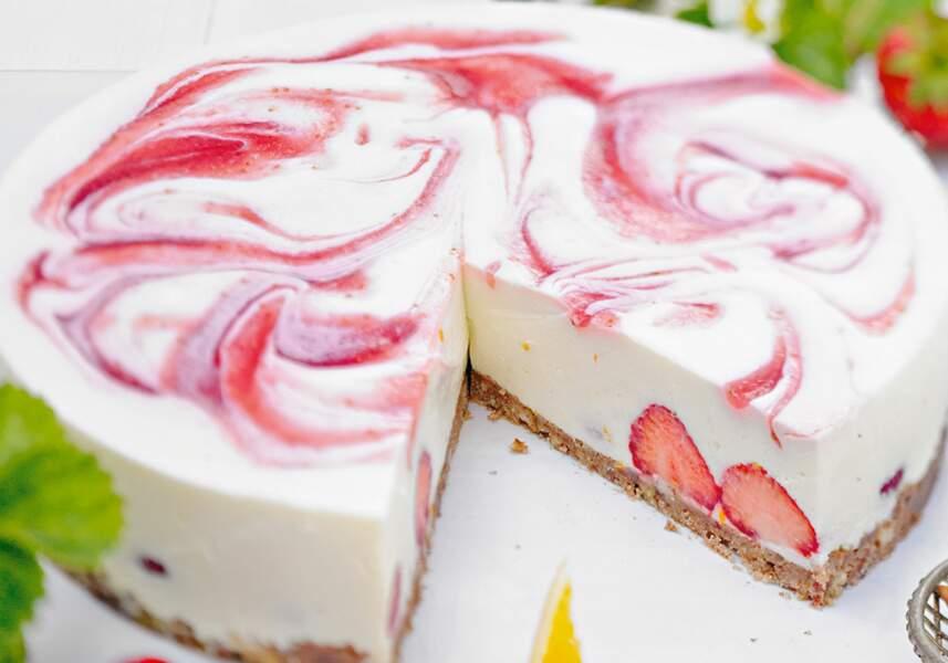 Cheesecake aux fraises et citron