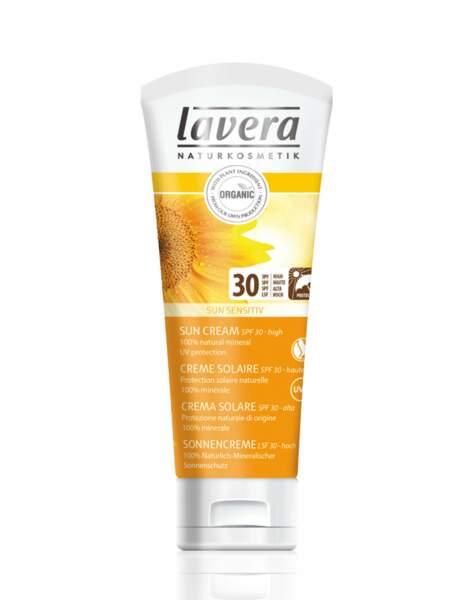 Crème solaire SPF30, Lavera Sun Sensitiv : tolérance maxi