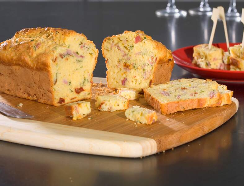 Cake au jambon et à la moutarde