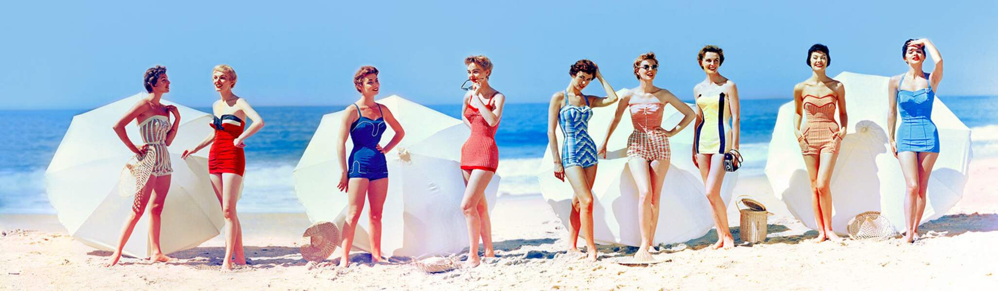 Fashions In Chromspun Swimsuits, 1954