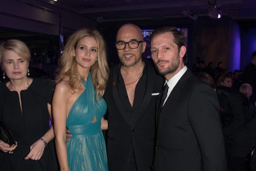 Pascal et Julie Obispo aux côtés de l'acteur Nicolas Duvauchelle