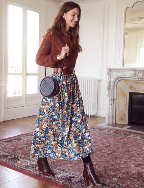 La jupe à fleurs