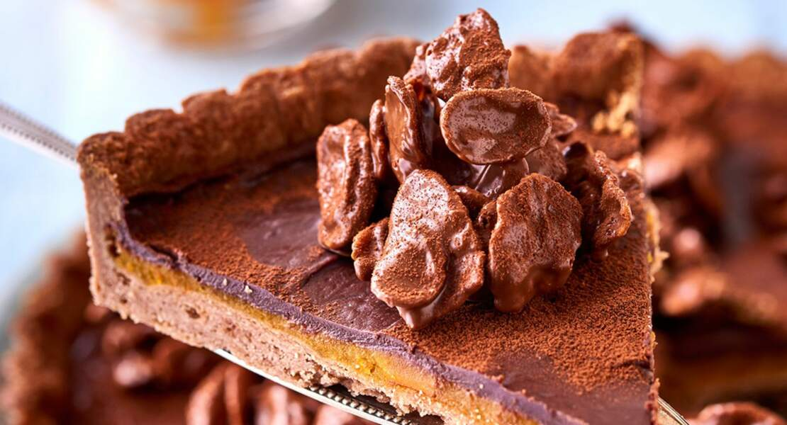 Tarte surprise au chocolat et potimarron