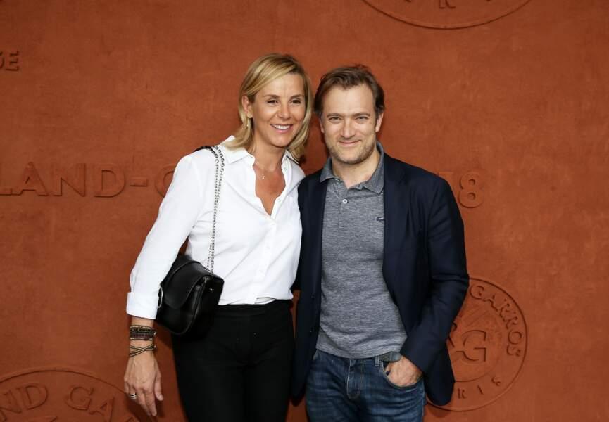 Laurence Ferrari et Renaud Capuçon lors des Internationaux de France de Tennis à Roland Garros (2018)