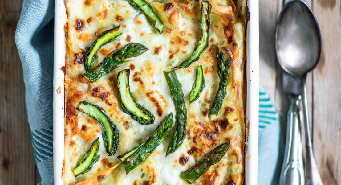 Lasagnes végétariennes aux asperges